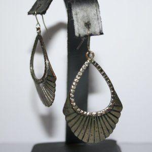 Beautiful boho silver dangle earrings